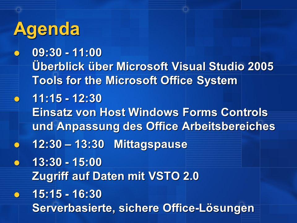 Touchdown VS2005 + SQL2005 Wir bieten: Wir bieten: 20 Stunden technischer Support 20 Stunden technischer Support Eintrag im deutschen Lösungskatalog Eintrag im deutschen Lösungskatalog Rabattiertes Training für 1 Entwickler (99 statt 499) Rabattiertes Training für 1 Entwickler (99 statt 499) Wir wollen: Wir wollen: Einsatz von SQL Server 2005 und/oder Visual Studio in einem konkreten Projekt Einsatz von SQL Server 2005 und/oder Visual Studio in einem konkreten Projekt Feedback Feedback Ankündigung: RTM + 90 Ankündigung: RTM + 90 Fertigstellung: RTM + 120 Fertigstellung: RTM + 120