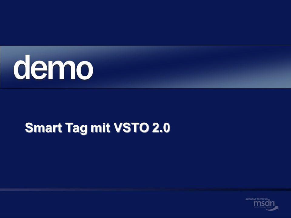 Smart Tag mit VSTO 2.0