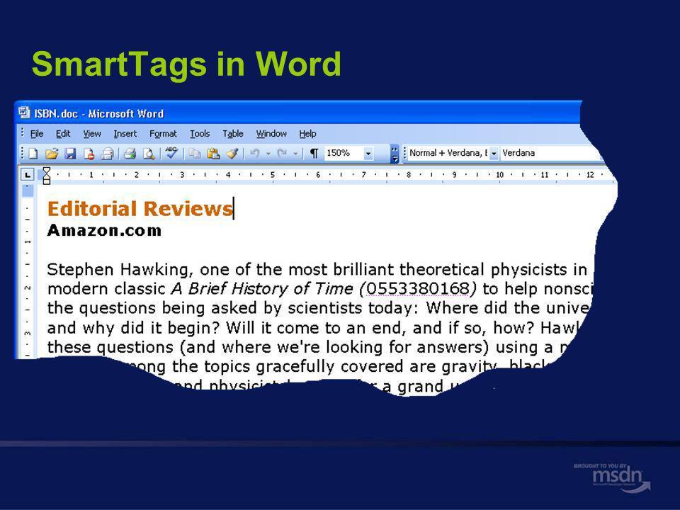 SmartTags in Word