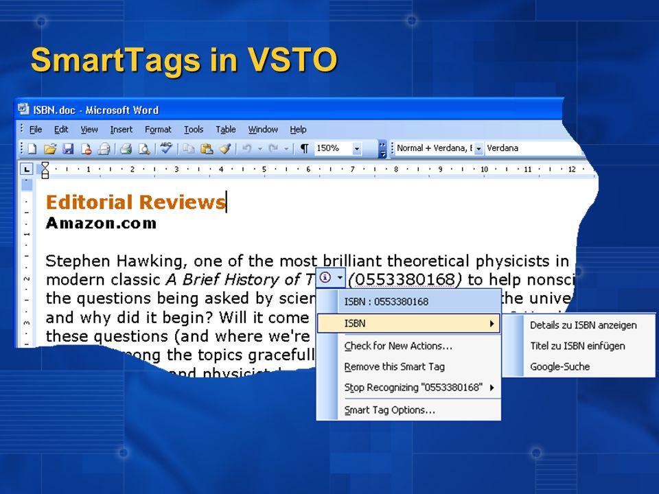 SmartTags in VSTO