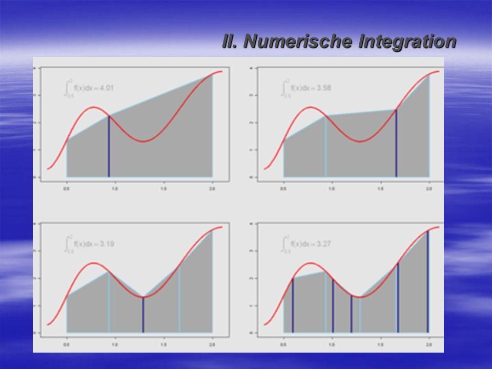 II. Numerische Integration
