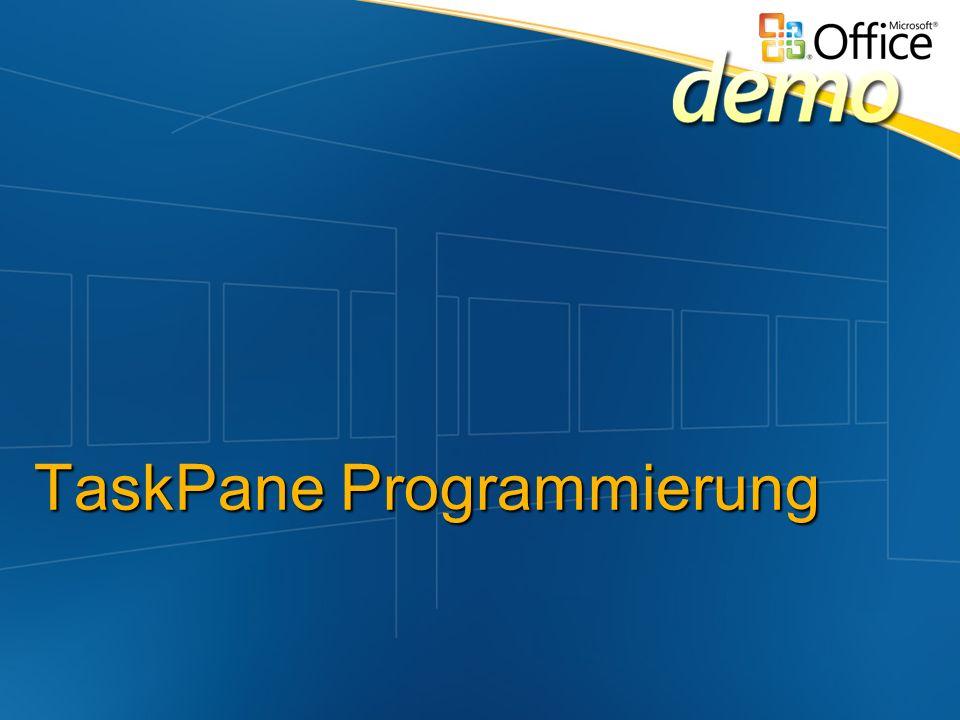 TaskPane Programmierung