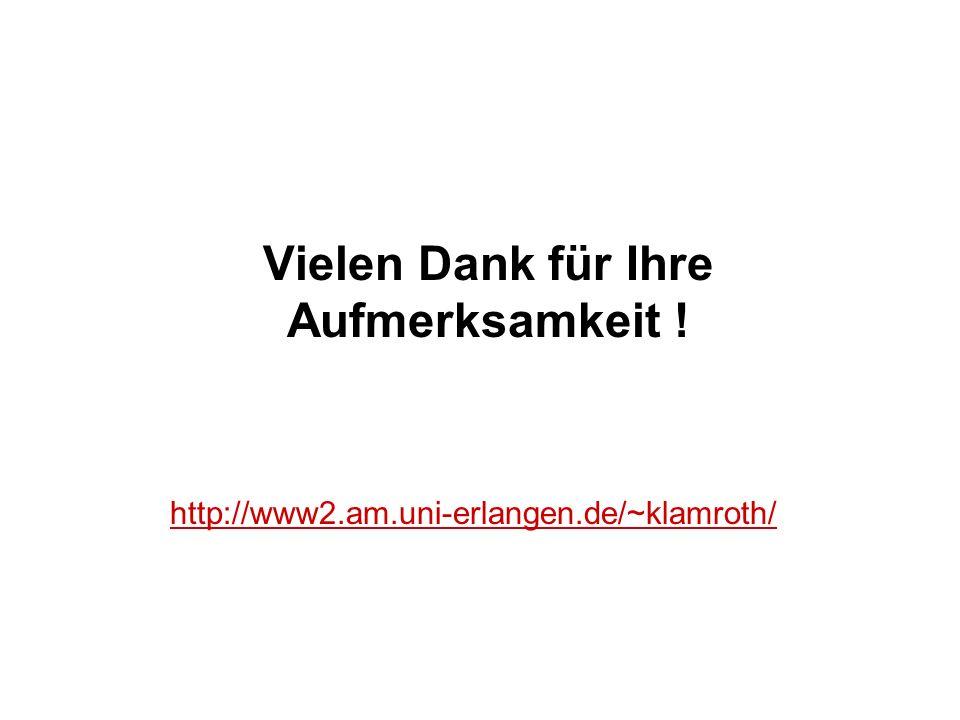 Vielen Dank für Ihre Aufmerksamkeit ! http://www2.am.uni-erlangen.de/~klamroth/
