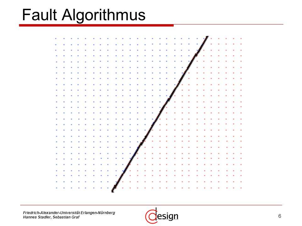 6 Friedrich-Alexander-Universität Erlangen-Nürnberg Hannes Stadler, Sebastian Graf Fault Algorithmus