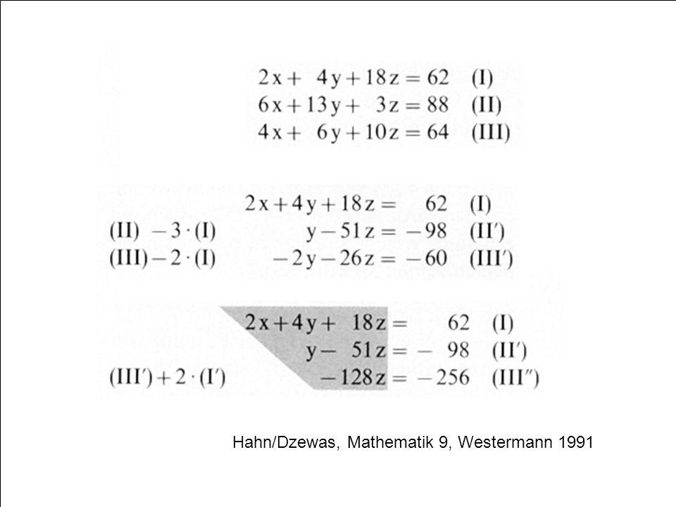 61 Hahn/Dzewas, Mathematik 9, Westermann 1991