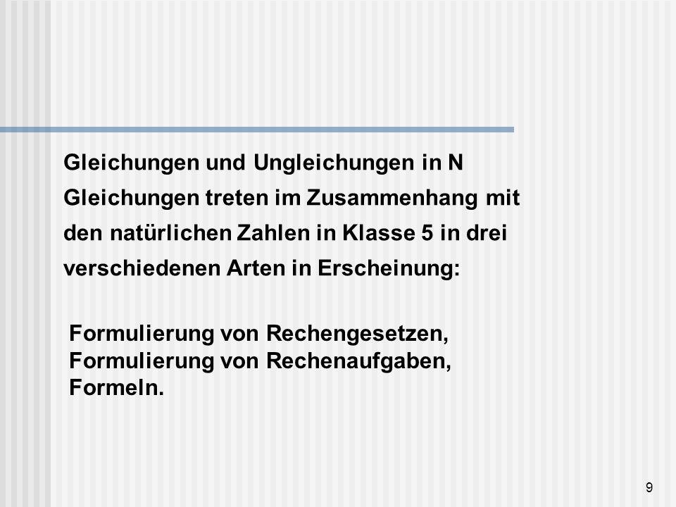 10 Formulierung von Rechengesetzen Ein wichtiges Themengebiet in Klasse 5 ist die Wiederholung und Vertiefung des Rechnens mit natürlichen Zahlen.