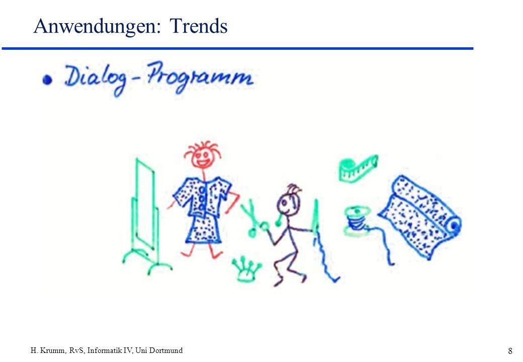 H. Krumm, RvS, Informatik IV, Uni Dortmund 9 Anwendungen: Trends