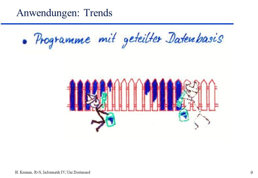 H. Krumm, RvS, Informatik IV, Uni Dortmund 10 Anwendungen: Trends