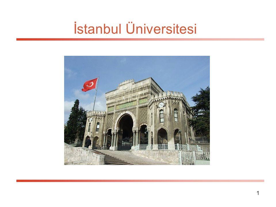 1 İstanbul Üniversitesi