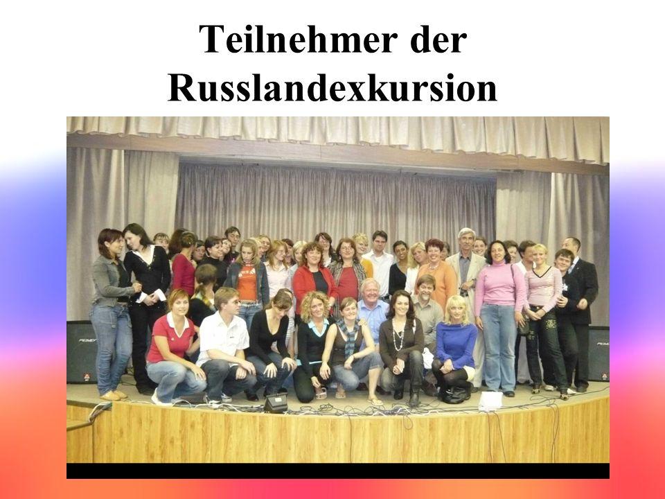 Teilnehmer der Russlandexkursion
