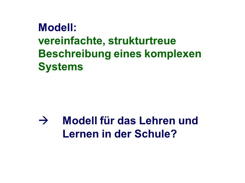 Modell für das Lehren und Lernen in der Schule?