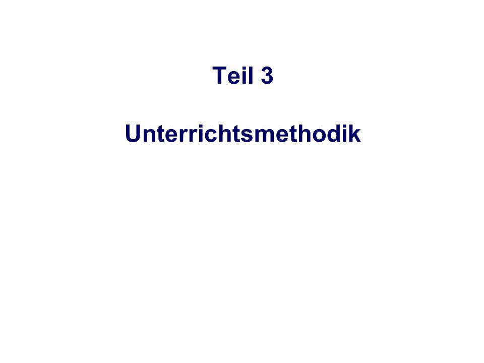 Teil 3 Unterrichtsmethodik