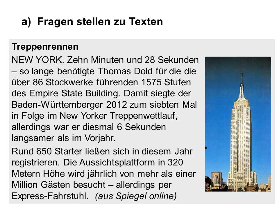 Treppenrennen NEW YORK. Zehn Minuten und 28 Sekunden – so lange benötigte Thomas Dold für die die über 86 Stockwerke führenden 1575 Stufen des Empire