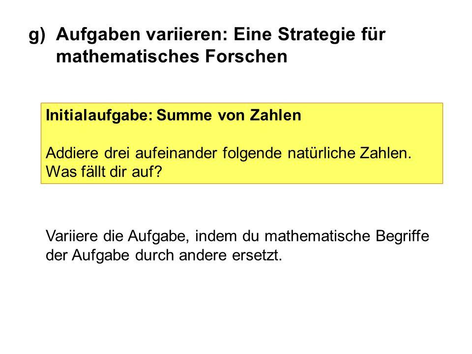 g)Aufgaben variieren: Eine Strategie für mathematisches Forschen Initialaufgabe: Abstandsmenge Zeichne alle Punkte, die von einer gegebenen Geraden den Abstand 2 cm haben.