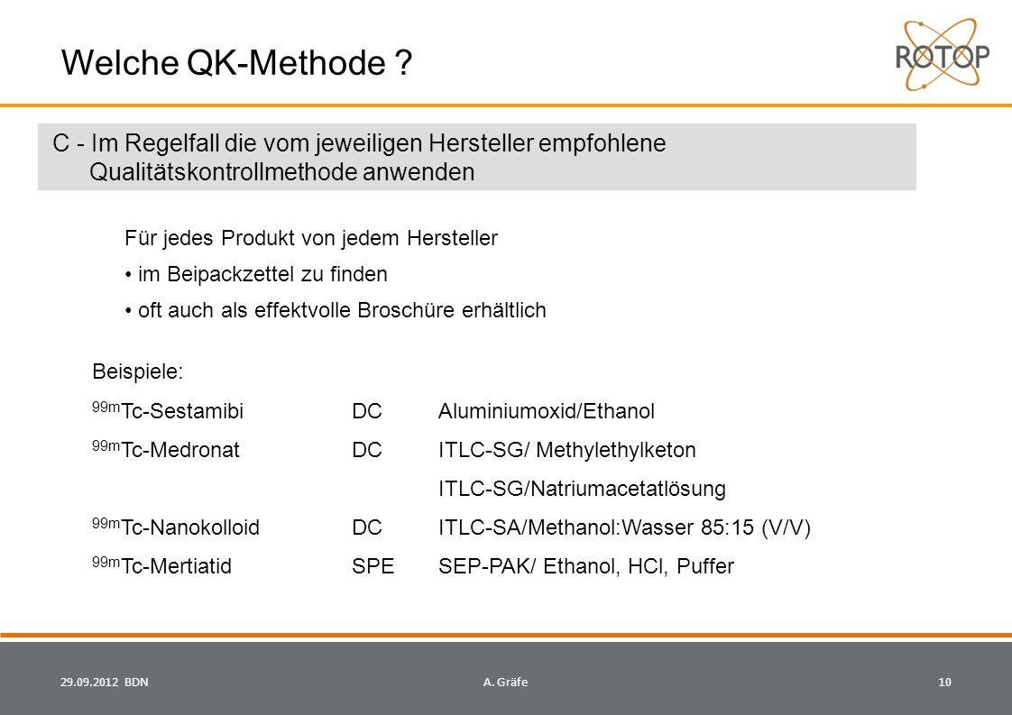 29.09.2012 BDN10A.Gräfe Welche QK-Methode .