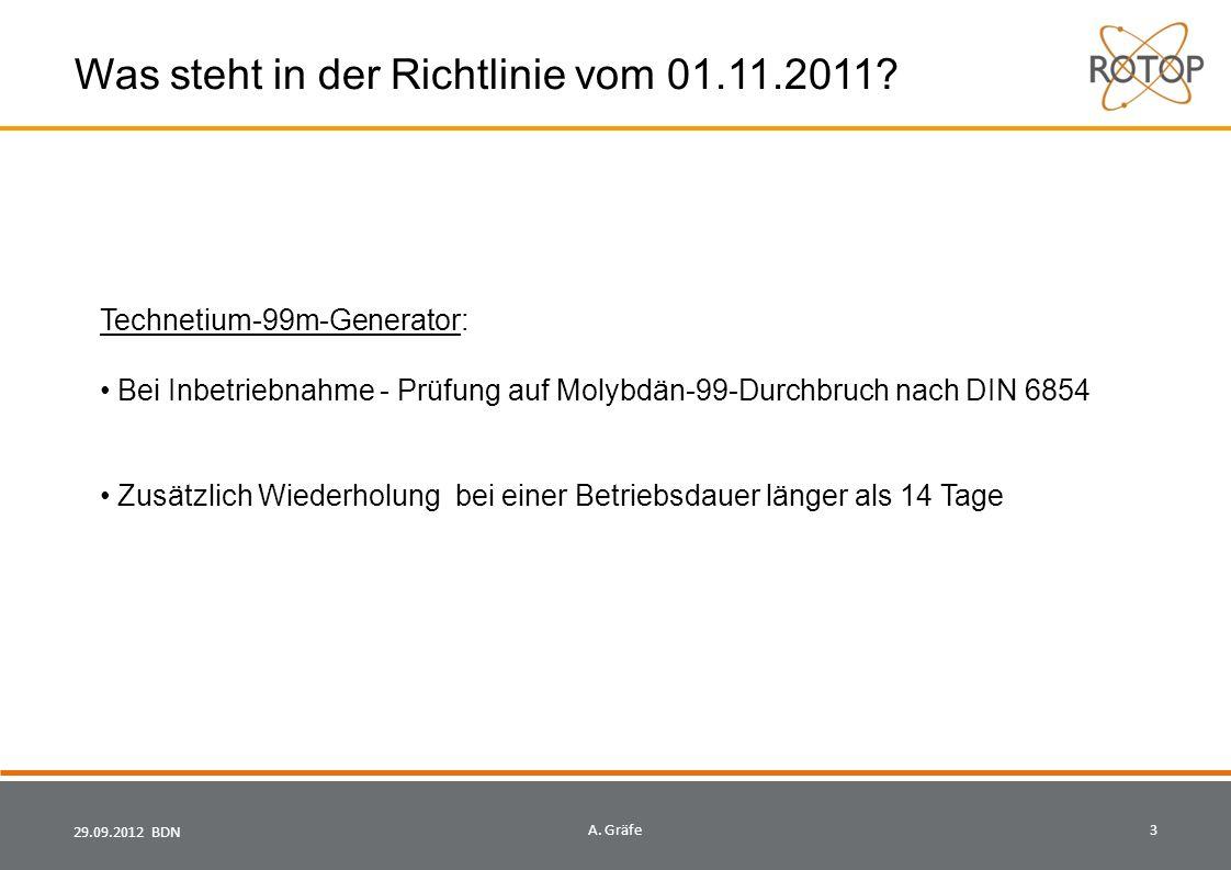 29.09.2012 BDN4A.Gräfe Was steht in der Richtlinie vom 01.11.2011.