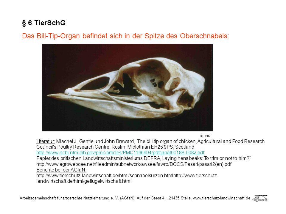 Arbeitsgemeinschaft für artgerechte Nutztierhaltung e. V. (AGfaN), Auf der Geest 4, 21435 Stelle, www.tierschutz-landwirtschaft.de § 6 TierSchG Das Bi