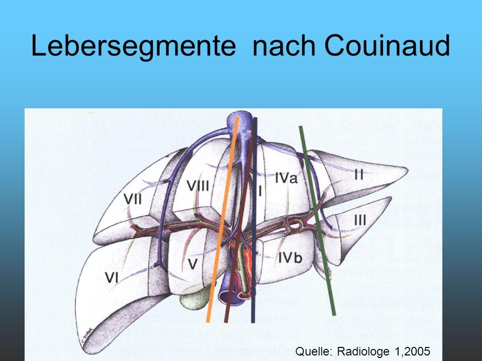 Lebersegmente nach Couinaud Quelle: Radiologe 1,2005