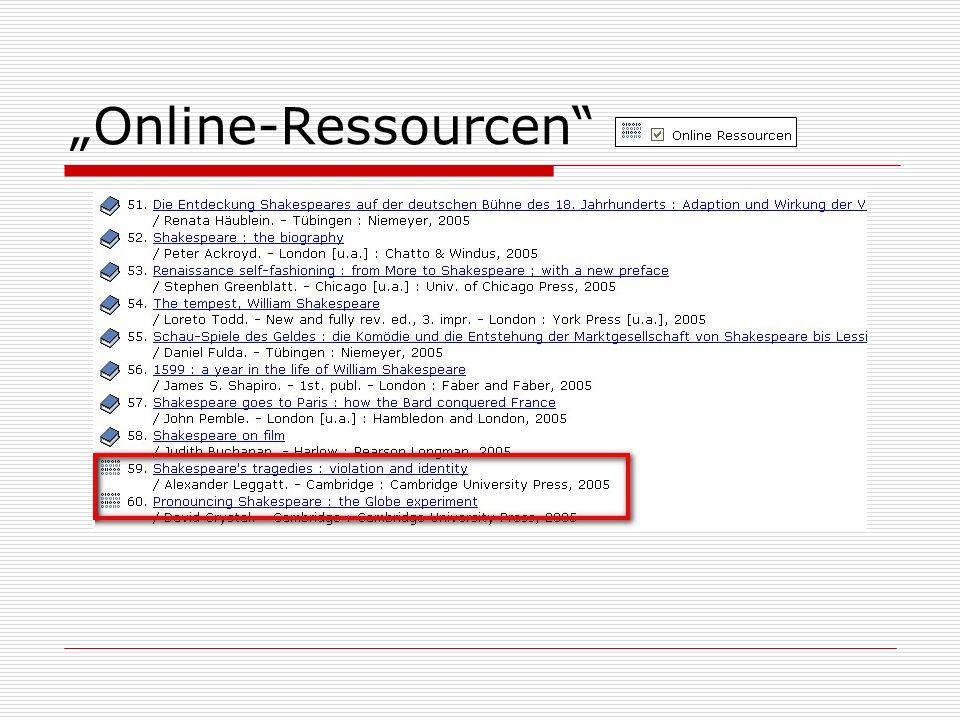 Online-Ressourcen