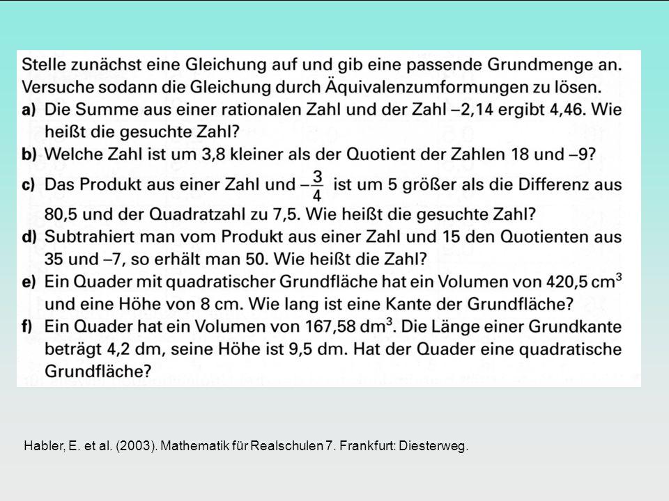 Habler, E. et al. (2003). Mathematik für Realschulen 7. Frankfurt: Diesterweg.