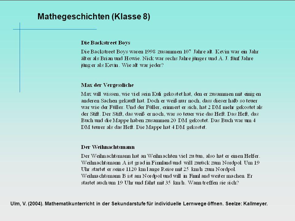 Mathegeschichten (Klasse 8)