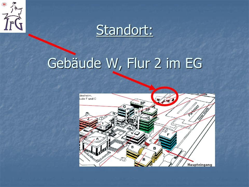 Standort: Gebäude W, Flur 2 im EG