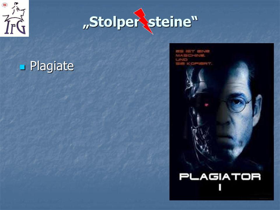 Stolper steine Plagiate Plagiate