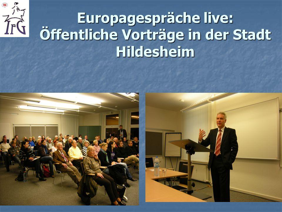 Europagespräche live: Öffentliche Vorträge in der Stadt Hildesheim