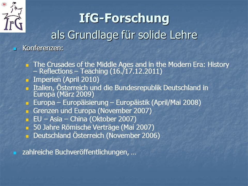 IfG-Publikationsreihe im Olms-Verlag Hildesheim