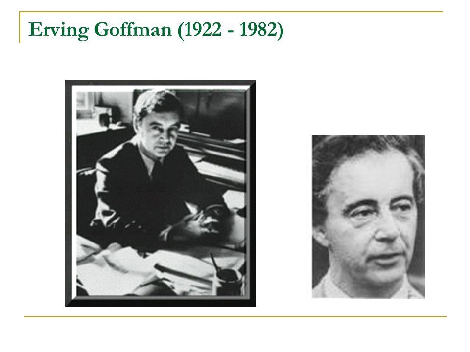 Erving Goffman (1922 - 1982)