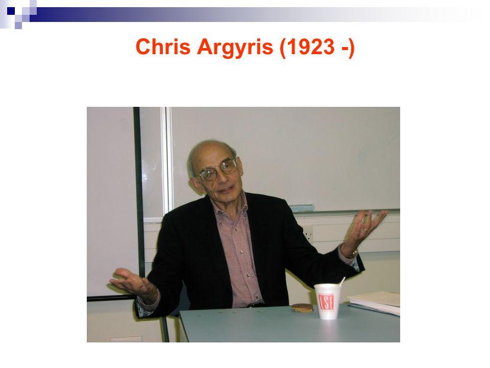 Chris Argyris (1923 -)