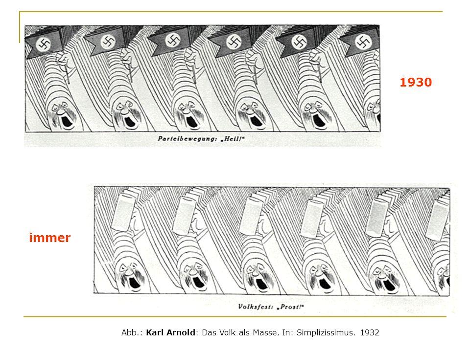 Abb.: Karl Arnold: Das Volk als Masse. In: Simplizissimus. 1932 1930 immer