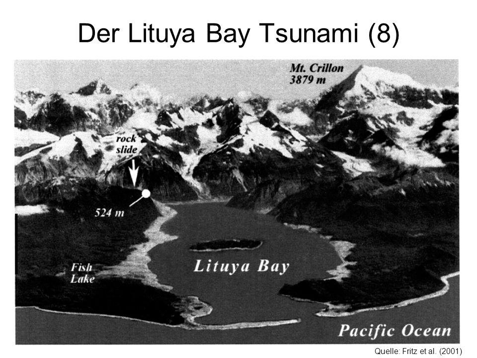Der Lituya Bay Tsunami (8) Quelle: Fritz et al. (2001)