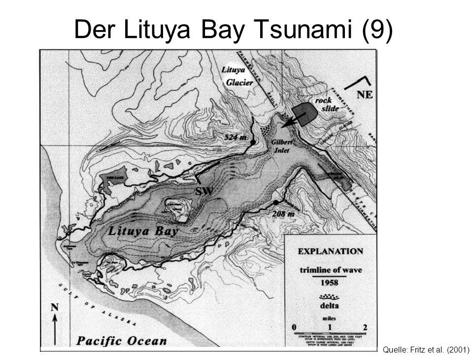Der Lituya Bay Tsunami (9) Quelle: Fritz et al. (2001)
