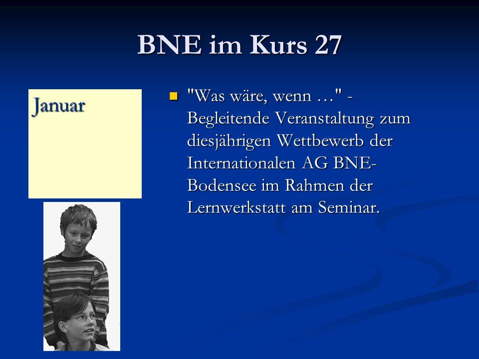 BNE im Kurs 27 Was wäre, wenn … - Begleitende Veranstaltung zum diesjährigen Wettbewerb der Internationalen AG BNE- Bodensee im Rahmen der Lernwerkstatt am Seminar.
