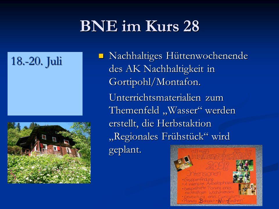 BNE im Kurs 28 Nachhaltiges Hüttenwochenende des AK Nachhaltigkeit in Gortipohl/Montafon.
