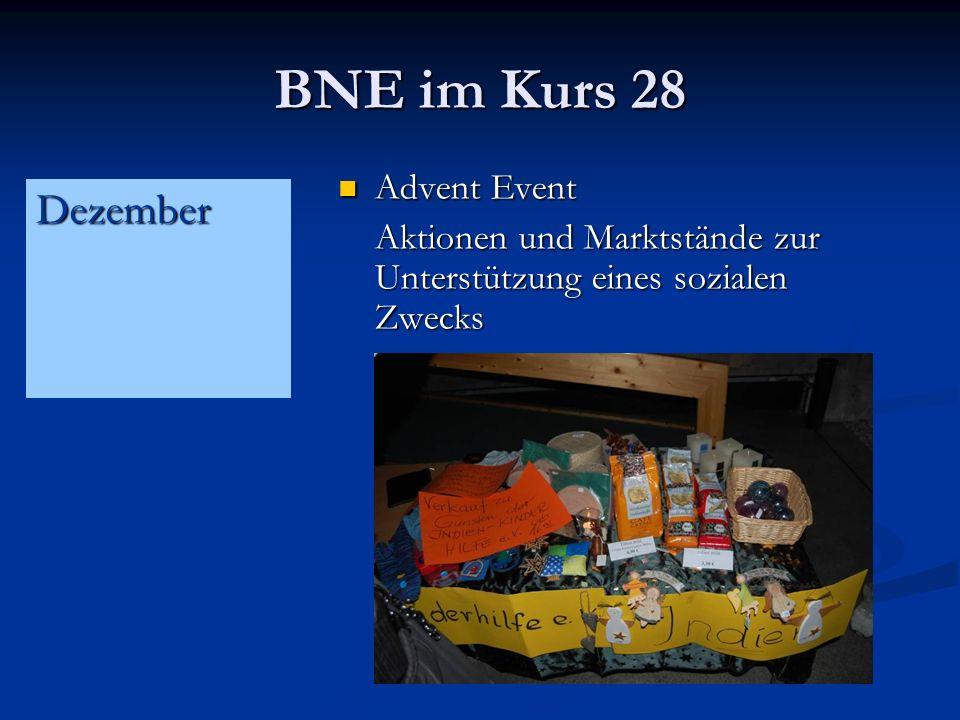 BNE im Kurs 28 Advent Event Advent Event Aktionen und Marktstände zur Unterstützung eines sozialen Zwecks Dezember