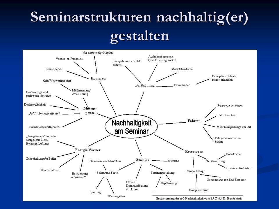 Seminarstrukturen nachhaltig(er) gestalten