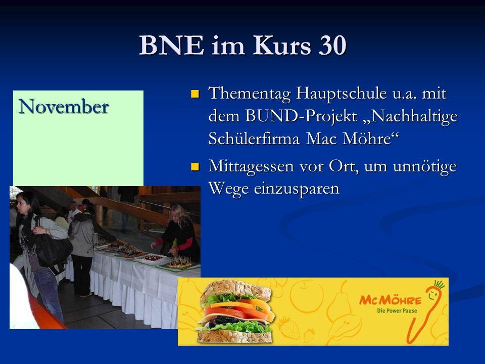 BNE im Kurs 30 Thementag Hauptschule u.a.