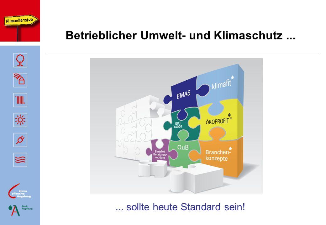 Klimafit – Energie- und Kosteneffizienz in Unternehmen (1) Das Ziel......