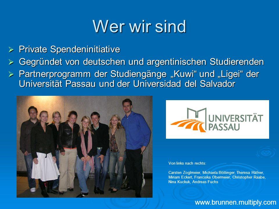Wer wir sind Private Spendeninitiative Private Spendeninitiative Gegründet von deutschen und argentinischen Studierenden Gegründet von deutschen und a