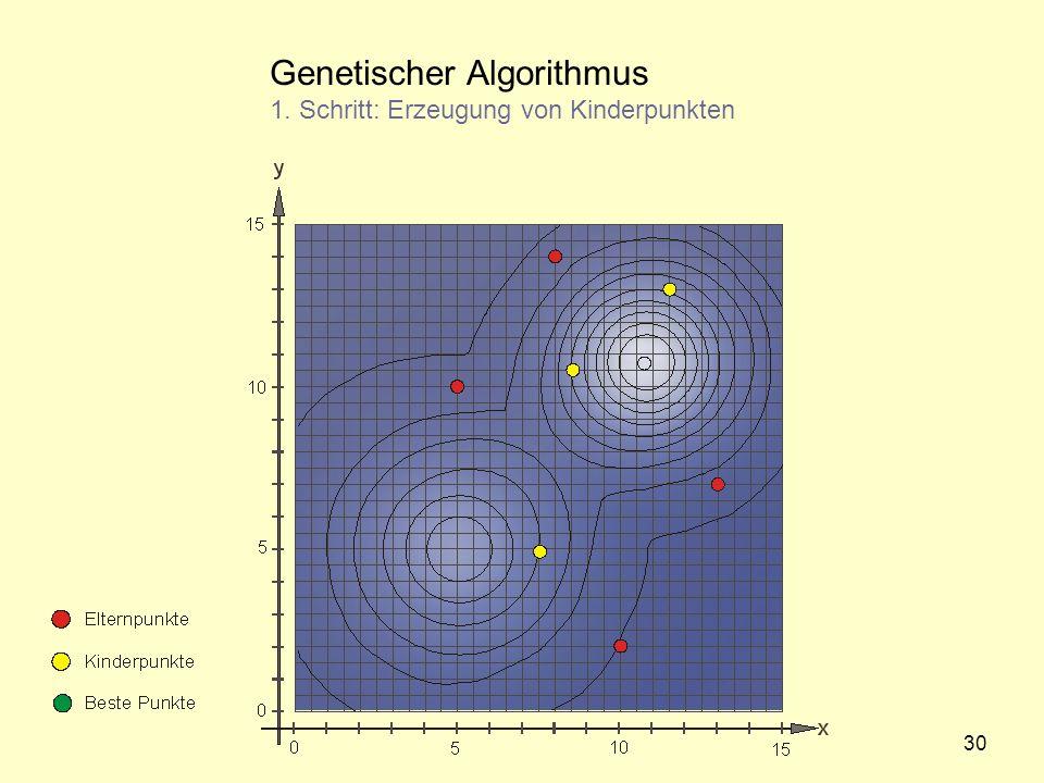 Genetischer Algorithmus 1. Schritt: Erzeugung von Kinderpunkten 30
