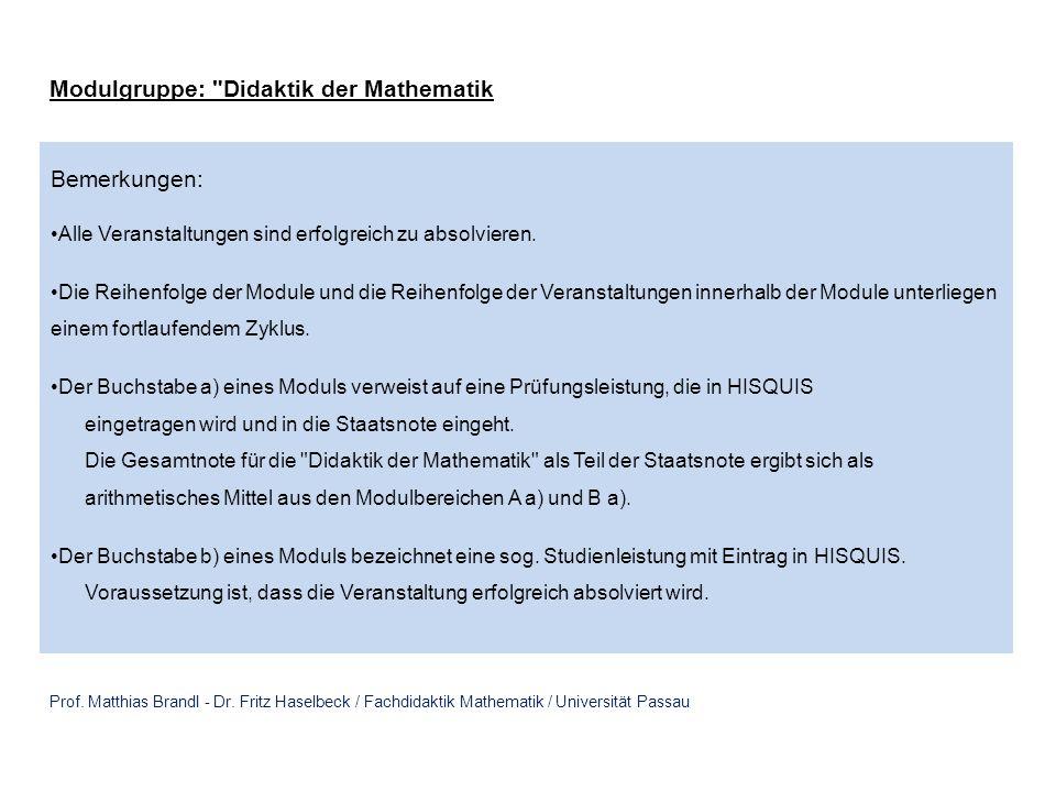 Prof.Dr. Matthias Brandl - Dr.