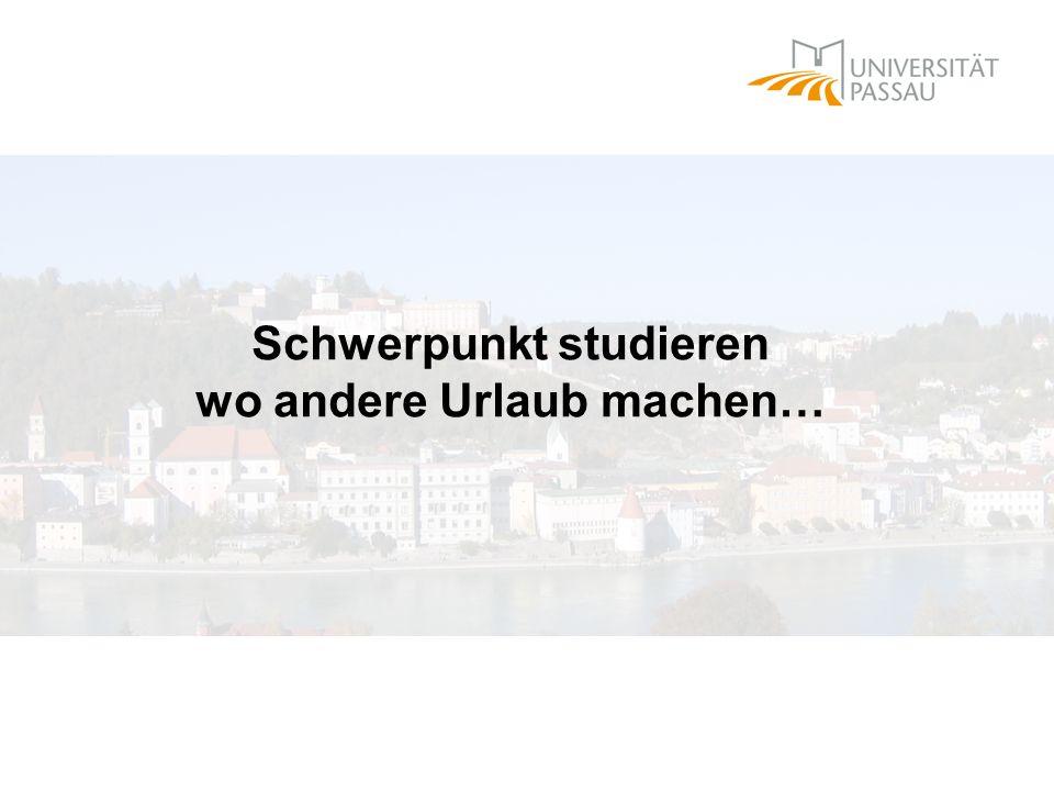 Schwerpunktbereichsstudium an der Universität Passau SPB 3: Internationales Privat- und Handelsrecht II.