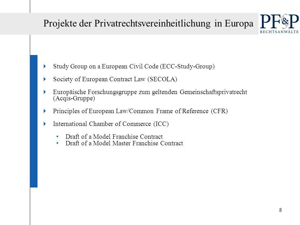 19 Vorteile eines optionalen europäischen Vertragsrechts Einheitlichkeit der Vertragsgestaltung.