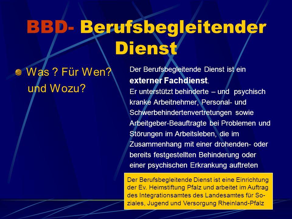BBD- Berufsbegleitender Dienst Was . Für Wen. und Wozu.