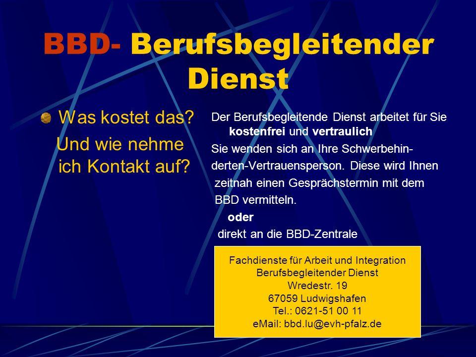 BBD- Berufsbegleitender Dienst Was kostet das. Und wie nehme ich Kontakt auf.