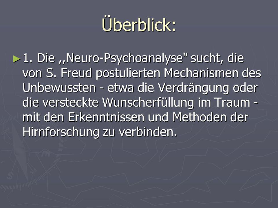 Überblick: 1. Die,,Neuro-Psychoanalyse