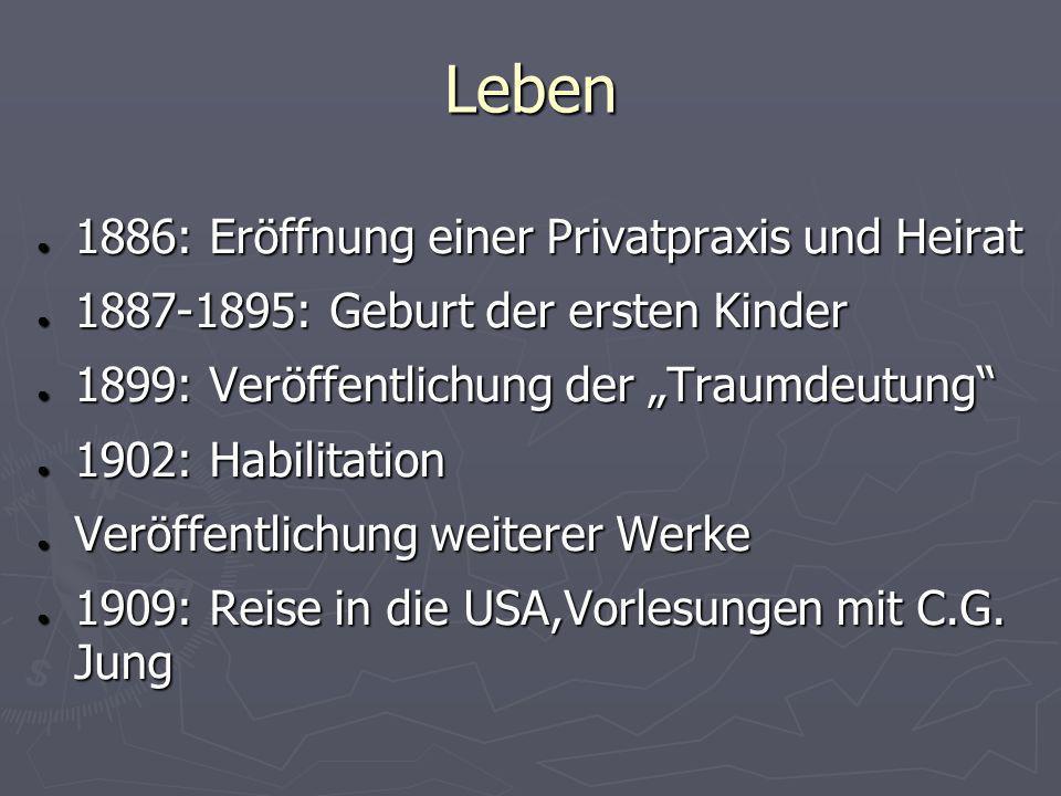 Leben 1886: Eröffnung einer Privatpraxis und Heirat 1886: Eröffnung einer Privatpraxis und Heirat 1887-1895: Geburt der ersten Kinder 1887-1895: Gebur