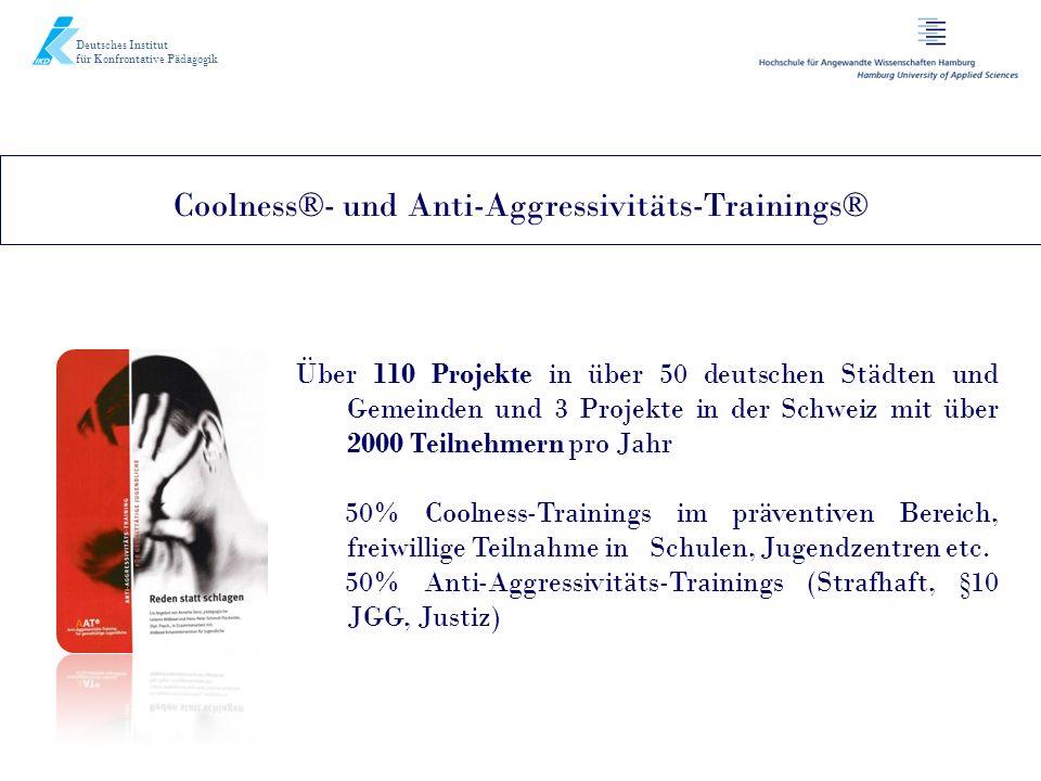 Deutsches Institut für Konfrontative Pädagogik Über 110 Projekte in über 50 deutschen Städten und Gemeinden und 3 Projekte in der Schweiz mit über 200